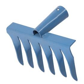 Грабли прямые, повёрнутый зубец, 6 зубцов, металлические, тулейка 28 мм, без черенка Ош