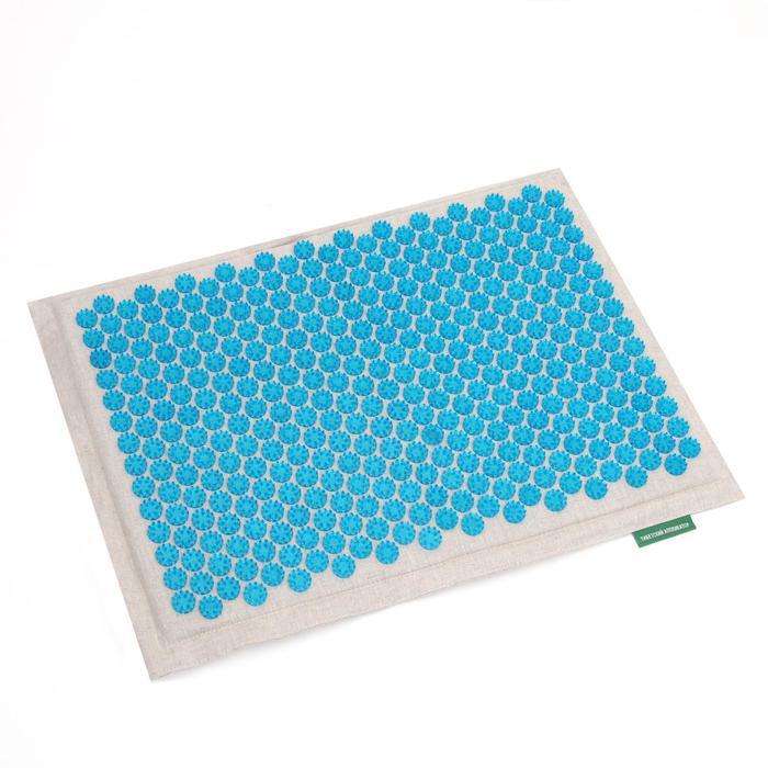 Массажёр-аппликатор «Тибетский», на мягкой подложке, для интенсивного воздействия, 41 × 60 см, цвет синий