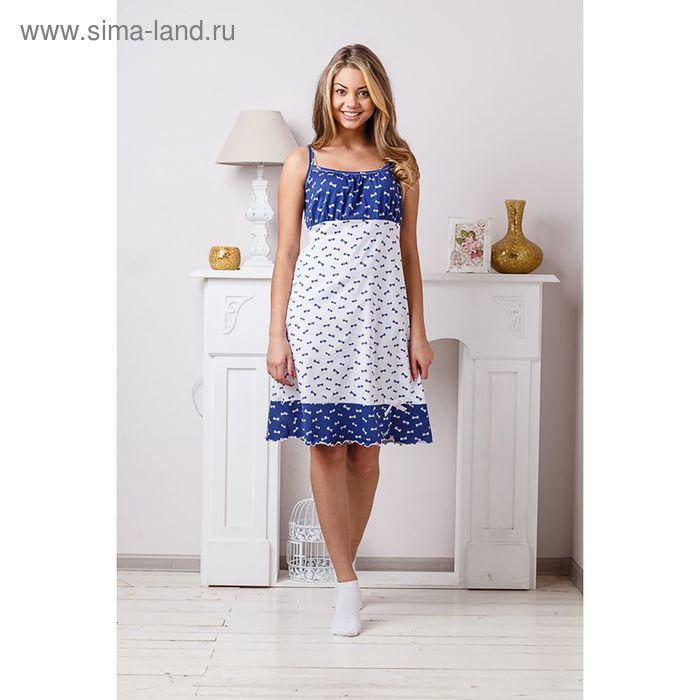 Сорочка женская, цвет бело-синий, размер 48 (арт. 8298)