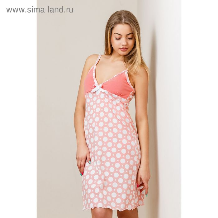 Сорочка женская, цвет персиковый, размер 48 (арт. 8392)