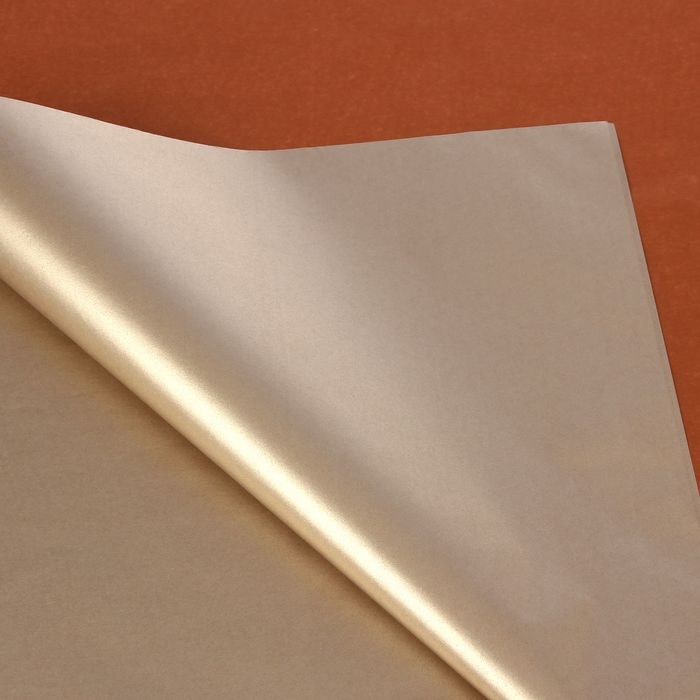 "Бумага тишью ""Медно-серебристый"", 50 х 75 см, 24 шт."