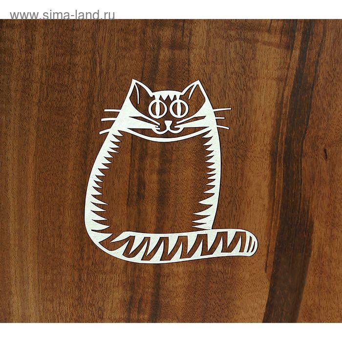 """Чипборд """"Полосатый кот"""" толщ. 0,9-1,15 мм 5х5,5 см"""