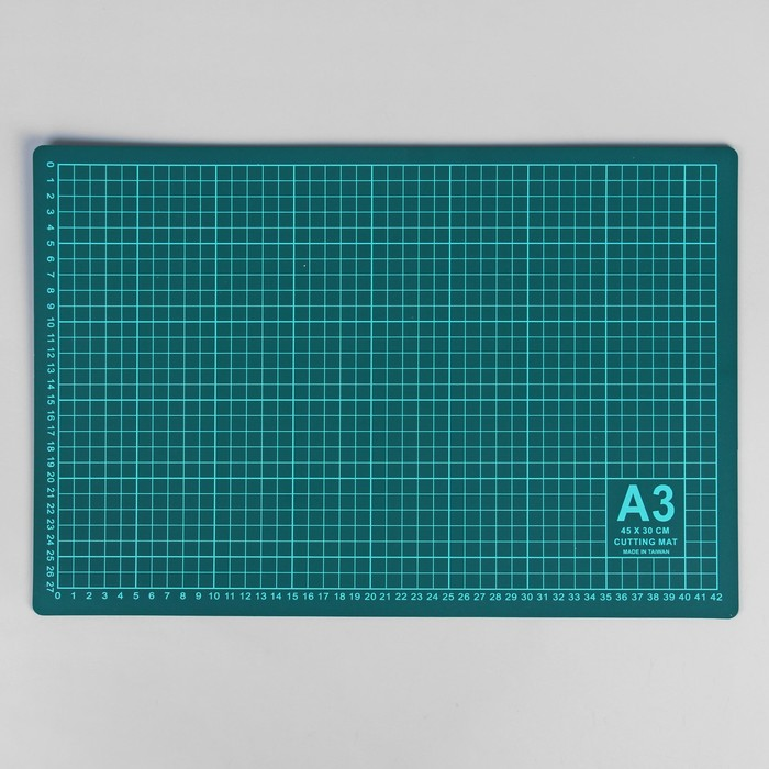Мат для резки, 45 × 30 см, А3, цвет зелёный, DK-003