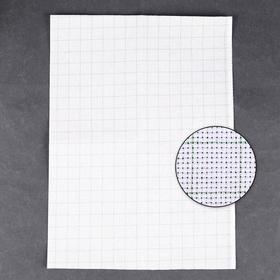 Канва для вышивания Aida №14, 30х40см, цвет белый в клетку Ош