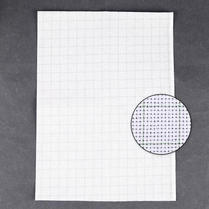 Канва для вышивания, в клетку, №14, 30 × 40 см, цвет белый