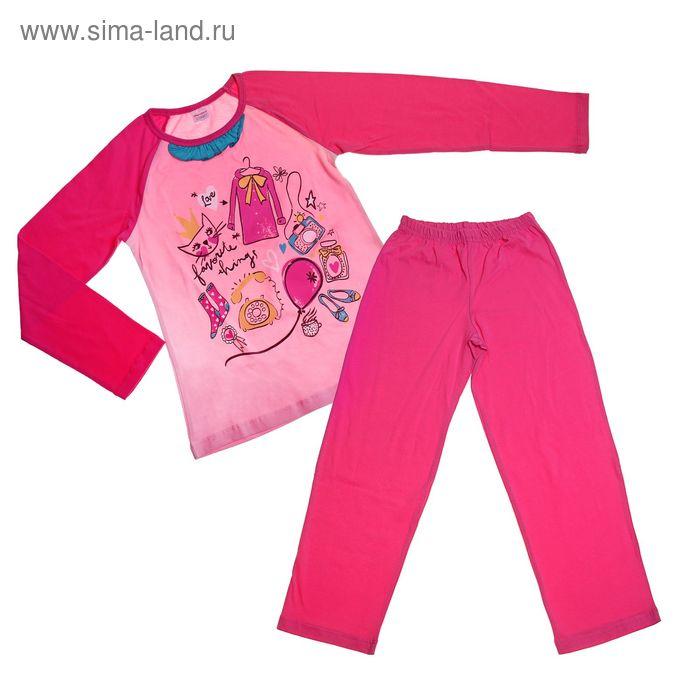 Пижама для девочки, рост 134 см, цвет фуксия (арт. CAJ 5181)