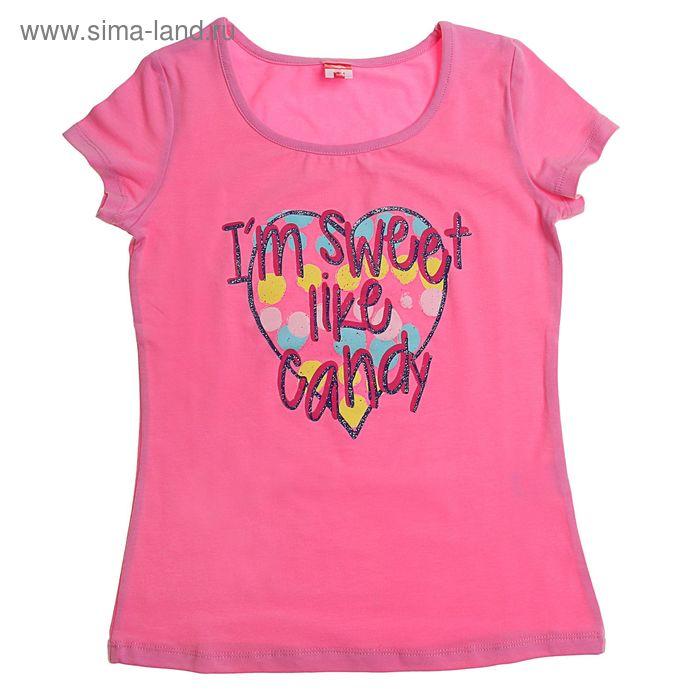 Футболка для девочки, рост 134 см, цвет светло-розовый (арт.CSJ 61350)