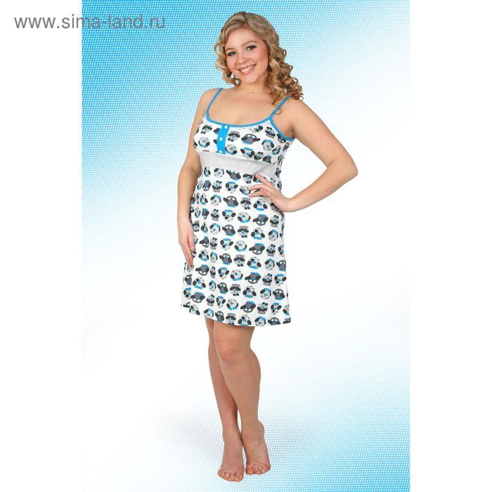 Сорочка женская Пин-5 синий, р-р 52