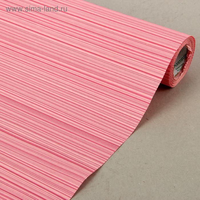"""Бумага упаковочная крафт """"Полоски люкс"""", розовая, 0.5 х 10 м"""