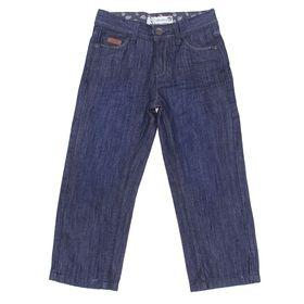 Брюки джинсовые для мальчика, рост 104 см, цвет тёмно-синий (арт. CK 7J033)