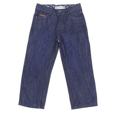 Брюки джинсовые для мальчика, рост 104 см, цвет тёмно-синий