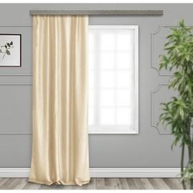 A set of curtains for curtains Tergalet 140x260 cm-2 pcs, dark champagne, 100% PE.