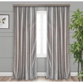 Комплект штор портьерных «Тергалет» 140х260 см - 2 шт, цвет серый, пэ 100%