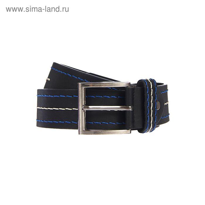 Ремень мужской гладкий, винт, пряжка под металл, ширина - 4,5см, чёрный, МИКС