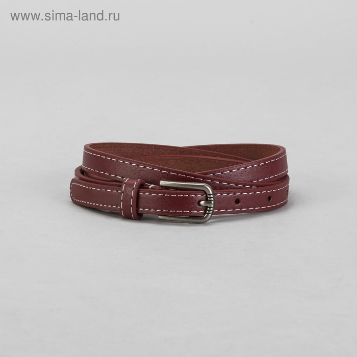 Ремень женский гладкий, пряжка под металл, ширина - 2см, красный