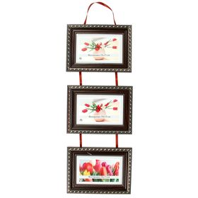 """Photo frame for 3 photos 10x15 cm """"scarlet ribbons"""""""