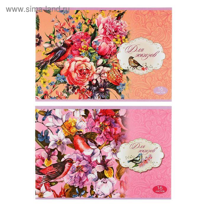 Блокнот для эскизов А4 16 листов Beauty, МИКС