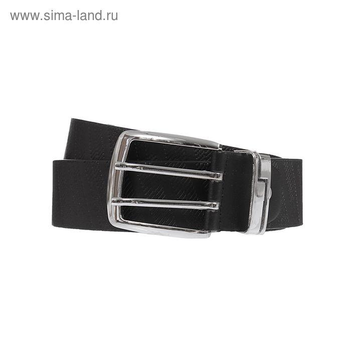 Ремень мужской, винт, пряжка МИКС, ширина - 4см, чёрный