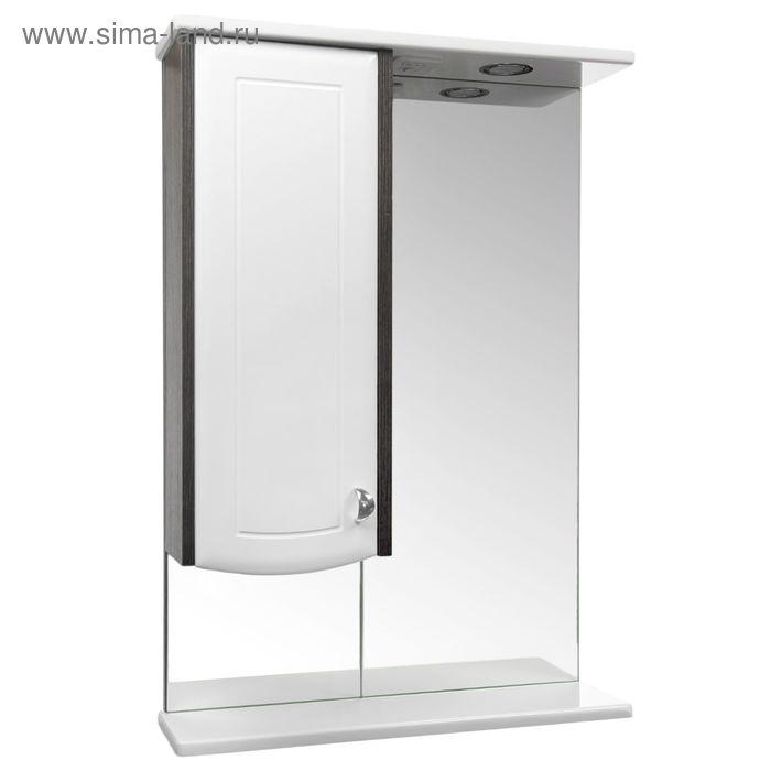 """Зеркало """"Милана"""" 5502, со светильником,  цвет венге/белое"""