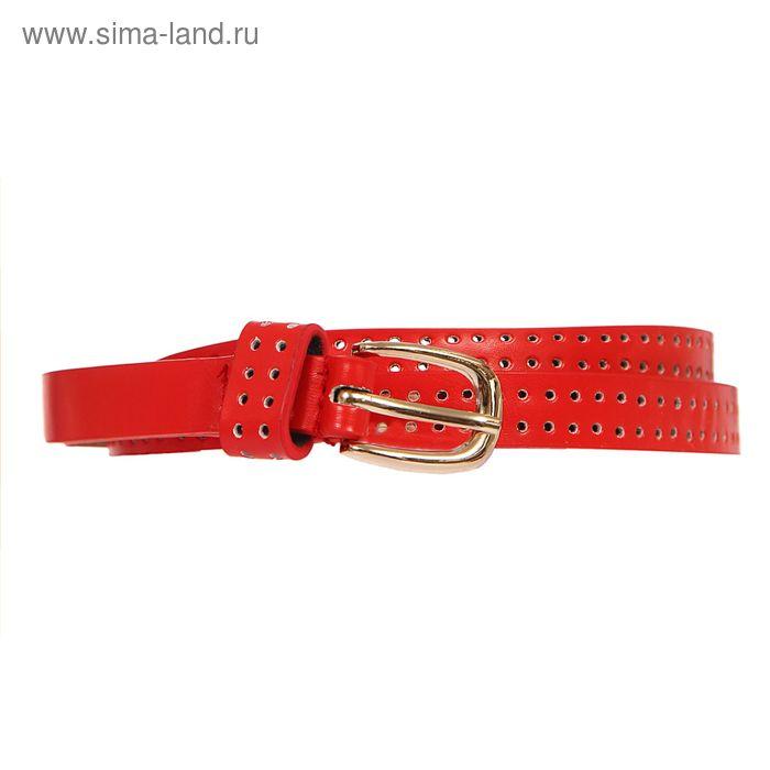 Ремень женский, пряжка под золото, ширина - 1,5см, красный