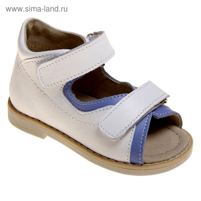 Туфли открытые малодетские Зебра, арт. 10595-2 (белый) (р. 24)