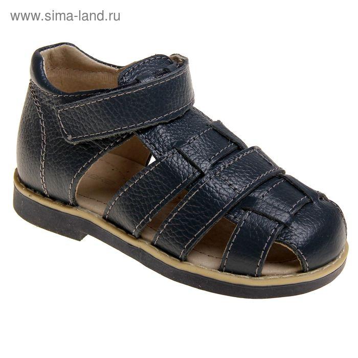 Туфли открытые дошкольные Зебра арт. 10439-5 (синий) (р. 29)