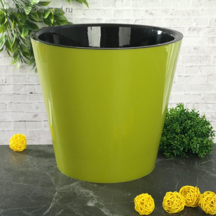 """Горшок для цветов 5 л """"Фиджи"""", d=23 см, цвет салатовый"""