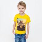 Футболка детская для мальчиков Desert, рост 128 см, цвет жёлтый (арт. 20120110021)