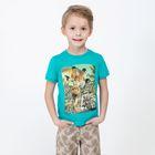 Футболка детская для мальчиков Desert, рост 122 см, цвет бирюзовый 20120110021)