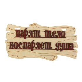 Табличка для бани 'Парят тело - воспаряет душа'  30х17см Ош