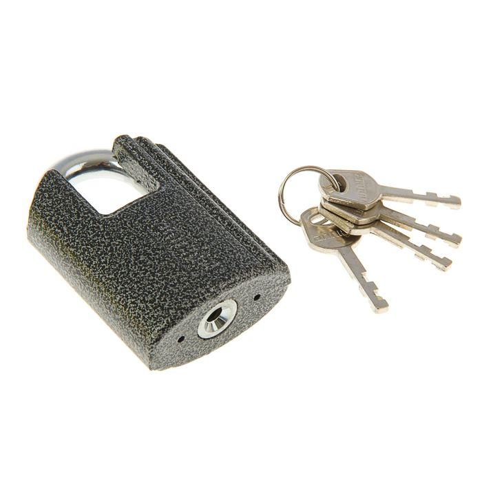 "Замок навесной ""АЛЛЮР"" ВС2Ч-601, дужка d=10 мм, с закрытой дужкой, 4 ключа, цвет антик - фото 7468644"