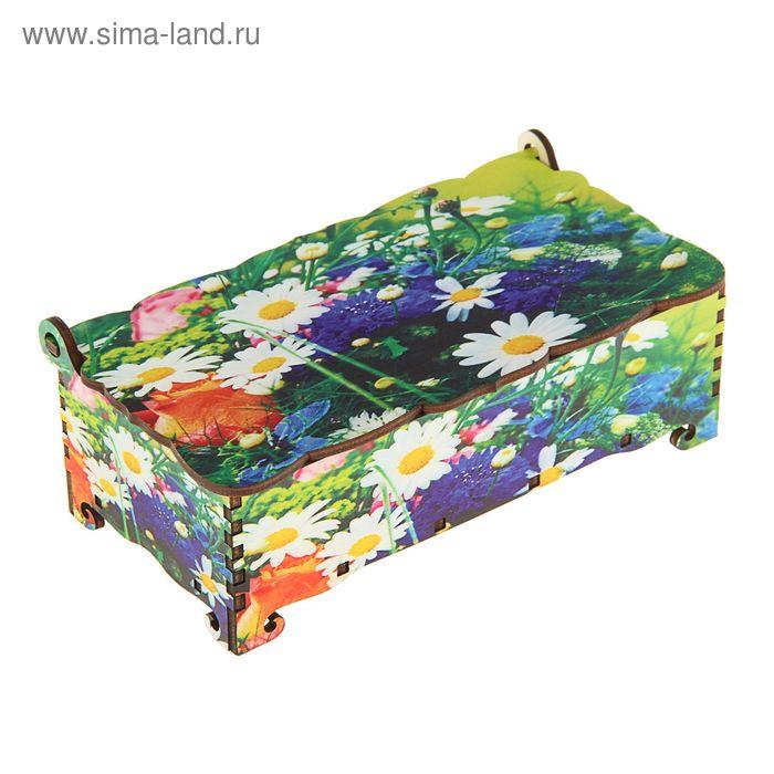 Шкатулка - купюрница «Цветы», 17х9х5,8 см
