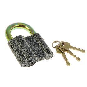 "Замок навесной ""АЛЛЮР"" ВС2-1С, дужка d=12 мм, 3 ключа с двойной нарезкой, цвет антик"