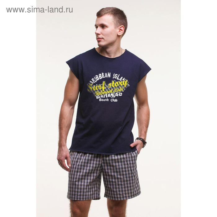 Комплект мужской (майка+шорты), цвет тёмно-синий, размер 48 (арт. М-748/2-26)