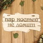 """Табличка для бани """"Пар костей не ломит"""" 30х17см"""