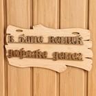 "The sign for bath ""In the bath broom more money"" 30х17см"