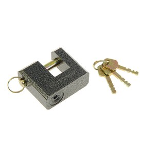 "Замок навесной ""АЛЛЮР"" ВС2-3-02С, дужка d=11 мм, 3 ключа с двойной нарезкой, цвет антик"