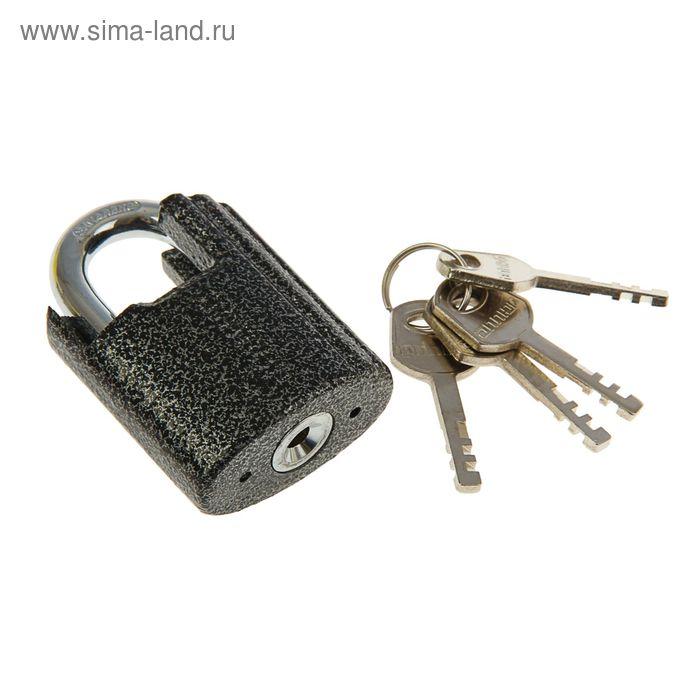 """Замок навесной """"АЛЛЮР"""" ВС2Ч-501, дужка d=8.5 мм, с закрытой дужкой, 4 ключа, цвет антик"""