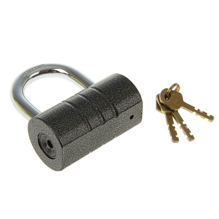 "Замок навесной ""АЛЛЮР"" ВС2-21С, дужка d=12 мм, 3 ключа с двойной нарезкой, цвет антик"
