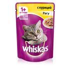 Влажный корм Whiskas для кошек 7+, рагу с курицей, пауч, 85 г