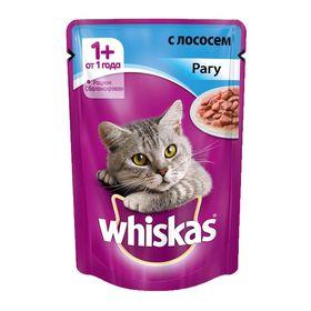Влажный корм Whiskas для кошек, рагу с лососем, пауч, 85 г