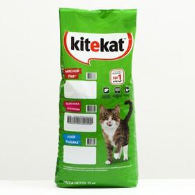 """Сухой корм Kitekat """"Аппетитная телятина"""" для кошек, 15 кг"""