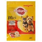 Сухой корм Pedigree для собак мини пород, говядина, 600 г