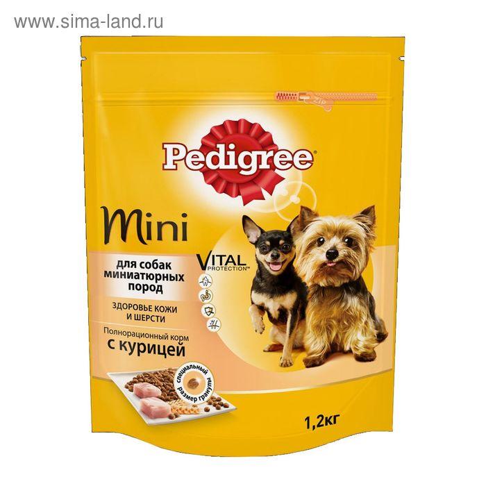 Сухой корм Pedigree для собак мини пород, курица, 1,2 кг