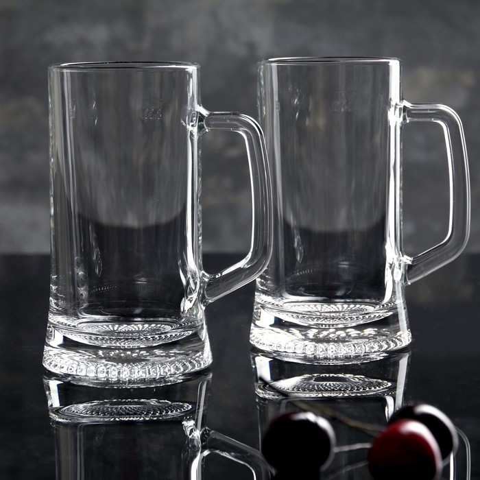 "Набор кружек для пива 330 мл ""Дрезден"", 2 шт"
