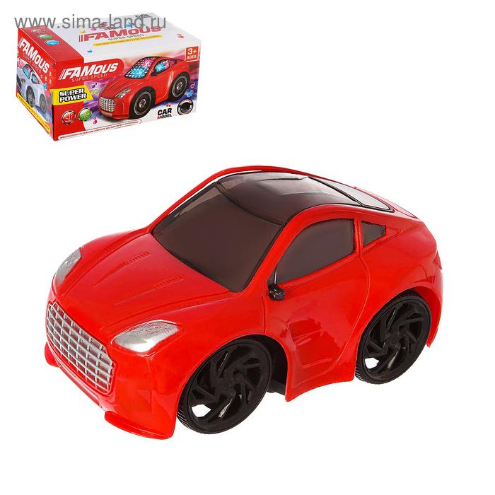 """Машина """"Суперкар"""", световые и звуковые эффекты, работает от батареек, цвета МИКС"""