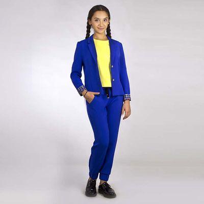 Жакет для девочки, цвет синий, рост 170 см (80) (арт. 16В1-ЖАД149-10)