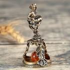 """Bell brass """"Sign of the zodiac. Virgin"""", amber"""