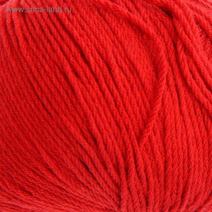 """Пряжа """"Айседора"""" 96% микрофибра(акрил), 4% нейлон 185м/50 гр (046, красный)"""