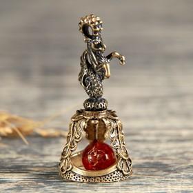 "Bell brass ""Sign of the zodiac. Capricorn"", amber"